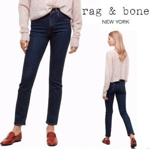 Rag & Bone Cigarette Jeans Dark Paz Size 25
